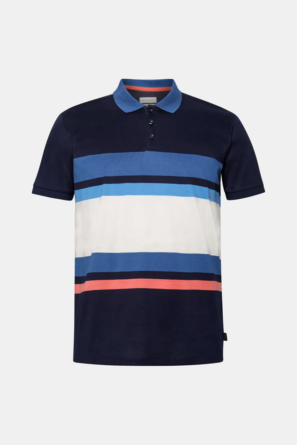 Jersey polo shirt in 100% cotton, NAVY, detail image number 7