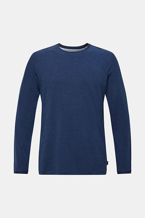 Piqué long sleeve T-shirt made of 100% cotton
