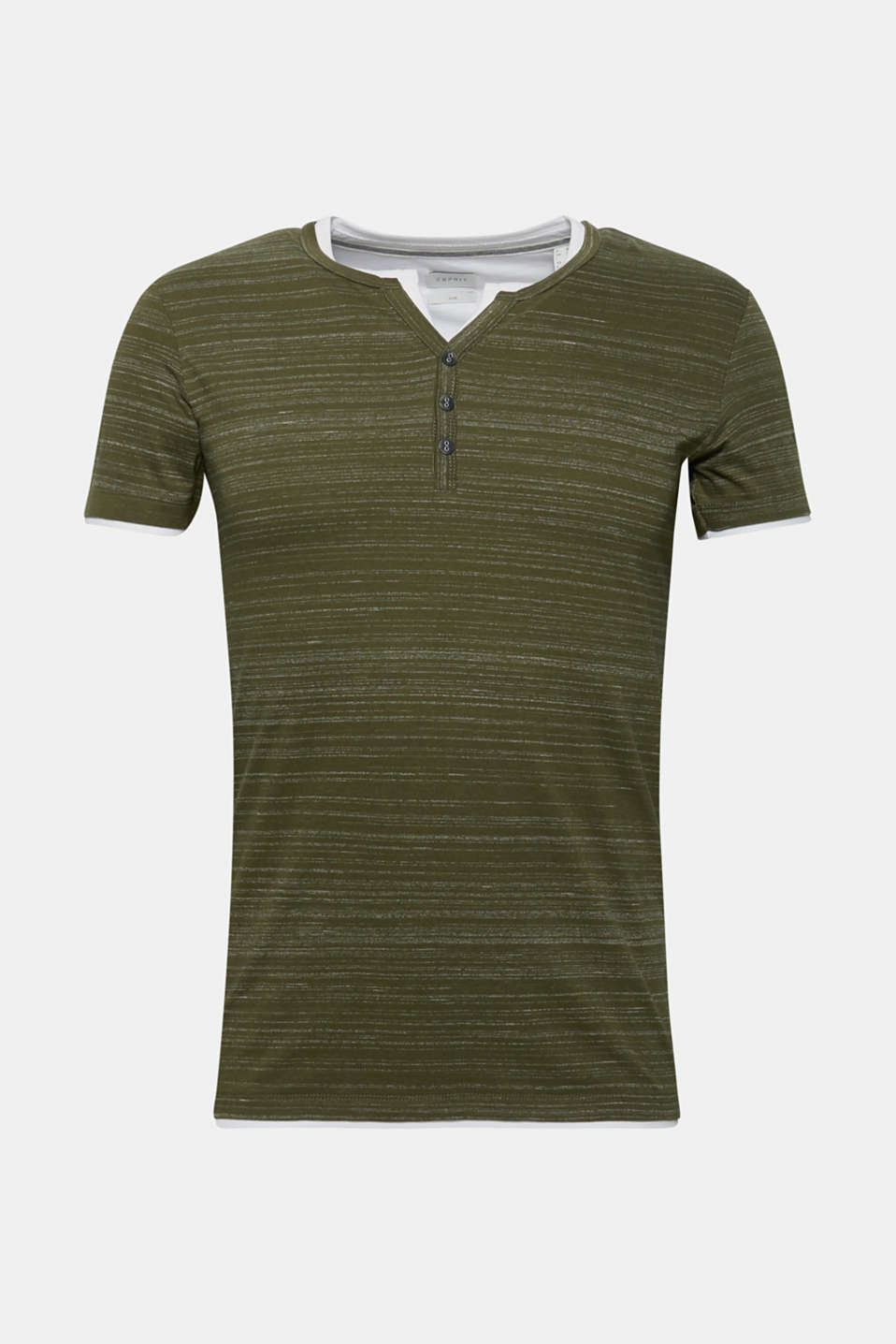 T-Shirts, KHAKI GREEN, detail image number 5