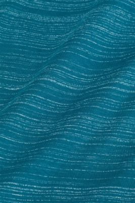 T-shirt with a layered look, made of jersey, PETROL BLUE, detail