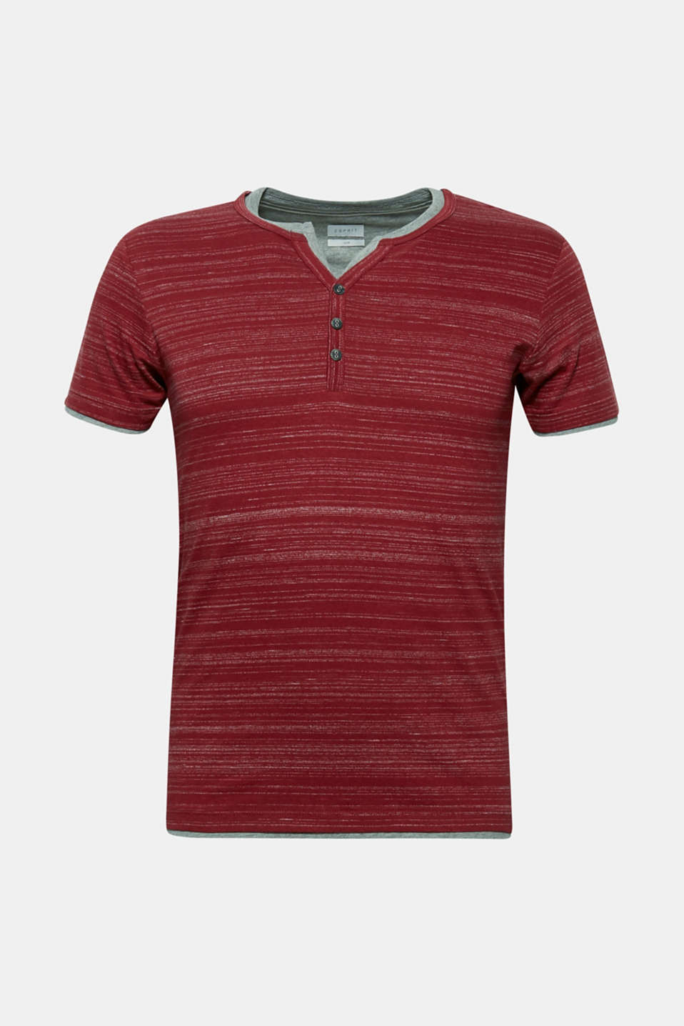 T-shirt with a layered look, made of jersey, BORDEAUX RED, detail image number 5