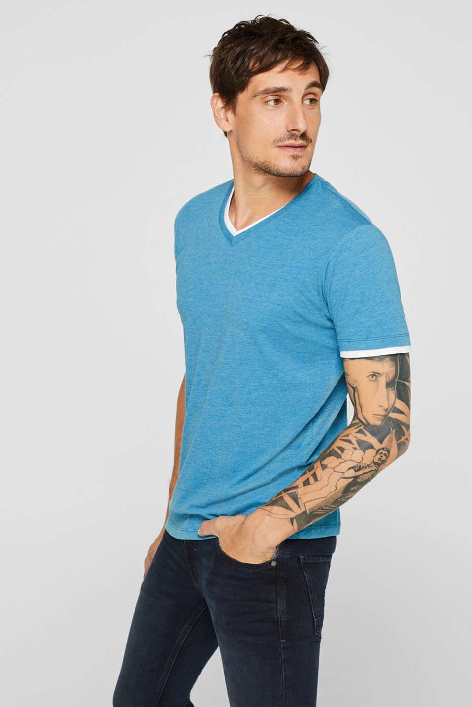 T-Shirts, PETROL BLUE, detail image number 0