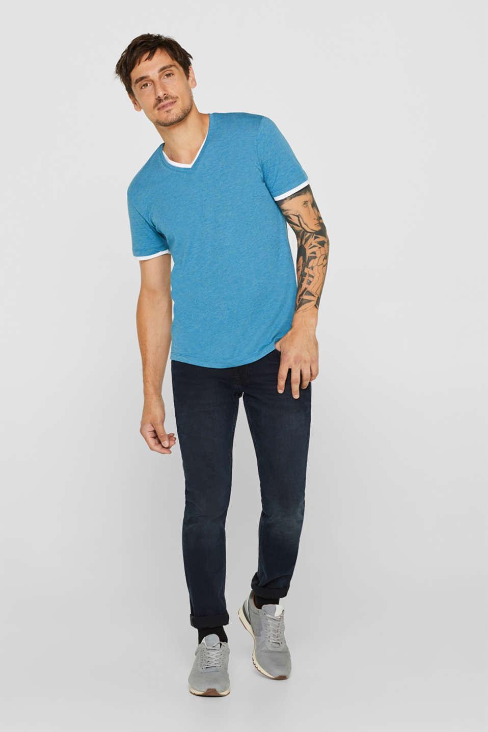 T-Shirts, PETROL BLUE, detail image number 2