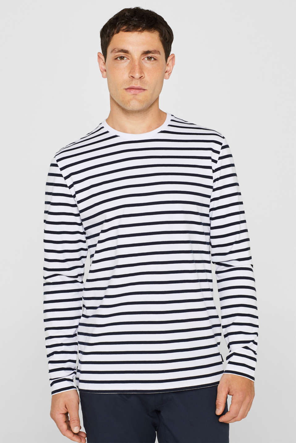 Esprit - Jersey long sleeve top, 100% cotton