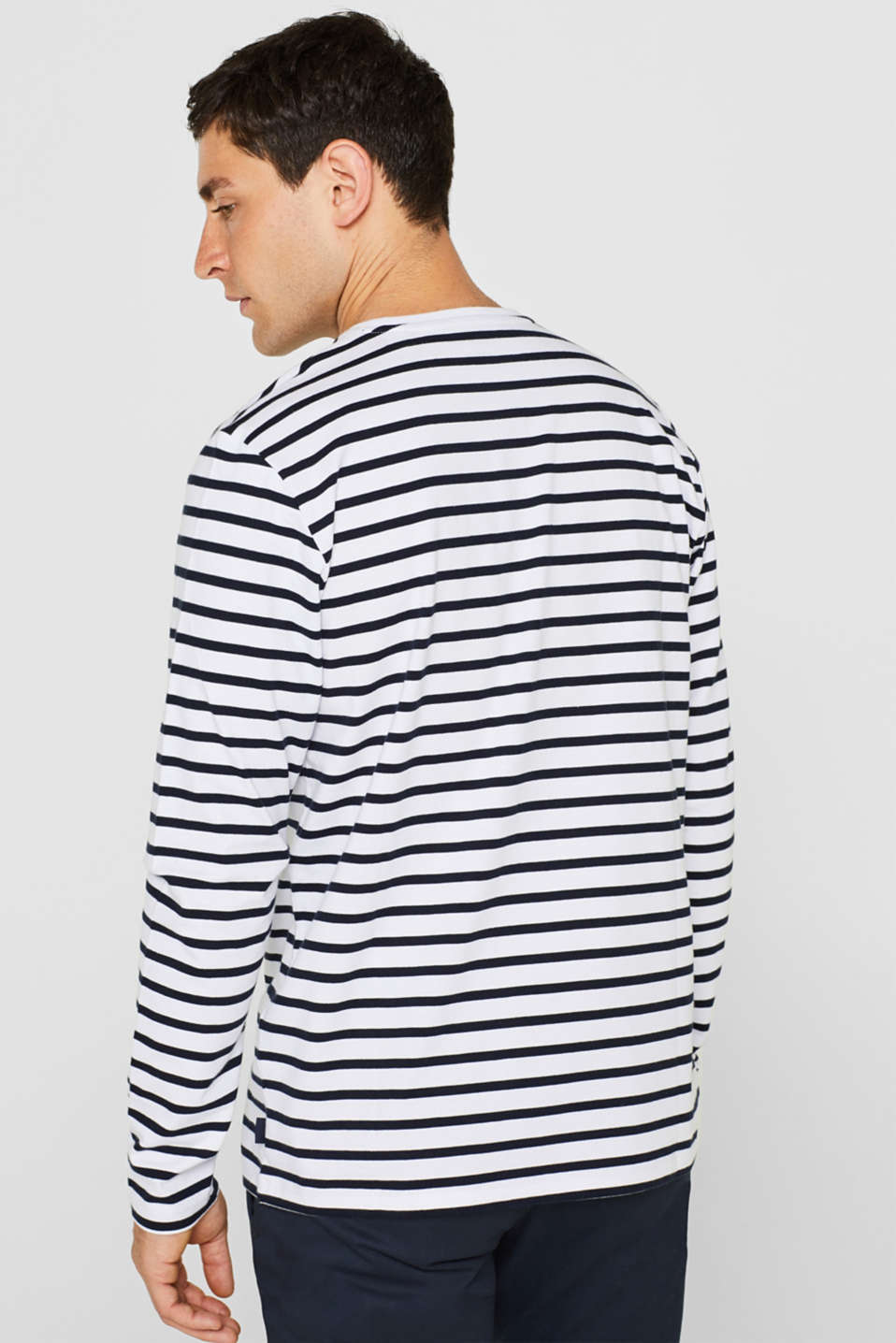 Jersey long sleeve top, 100% cotton, WHITE, detail image number 3