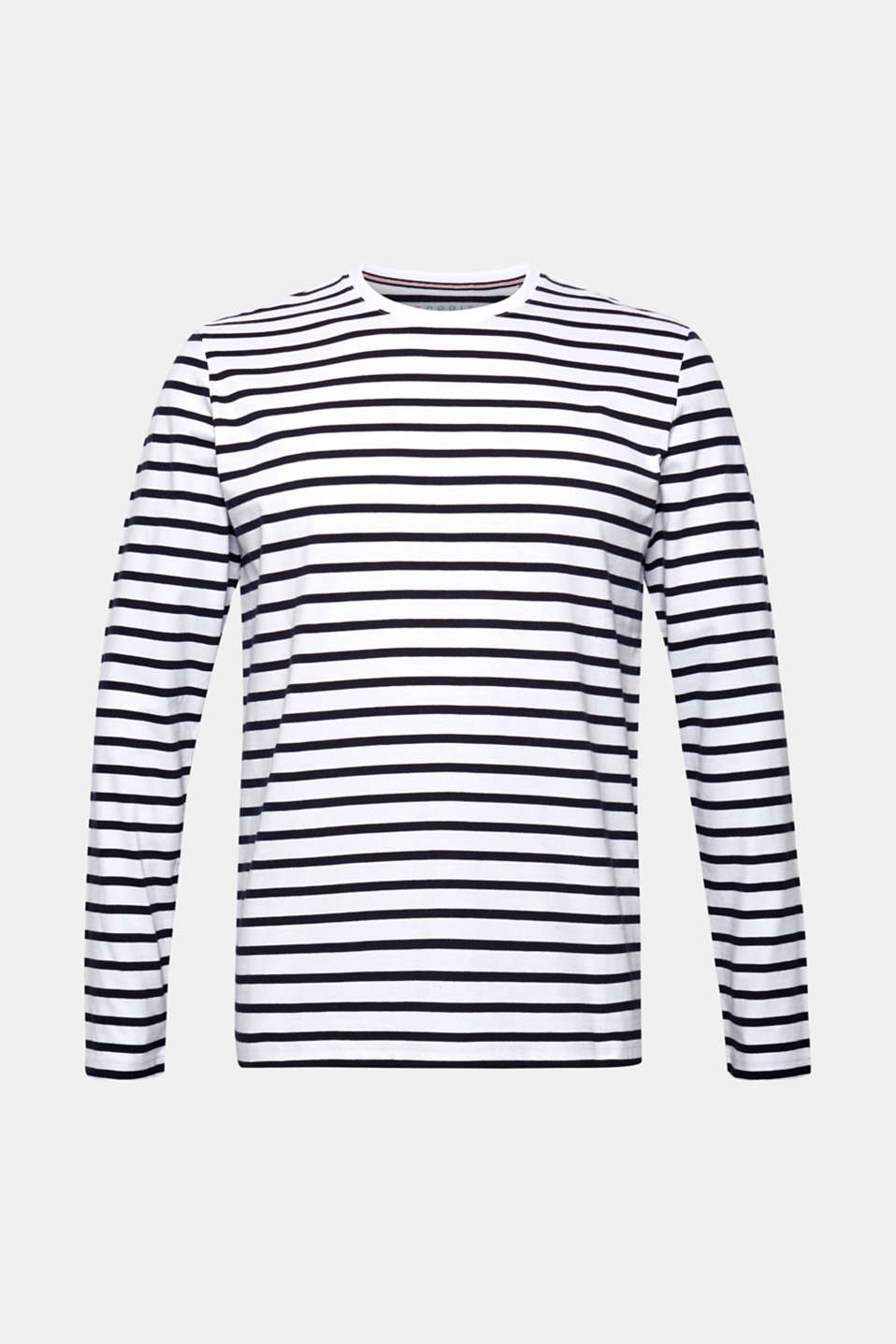 Jersey long sleeve top, 100% cotton, WHITE, detail image number 6