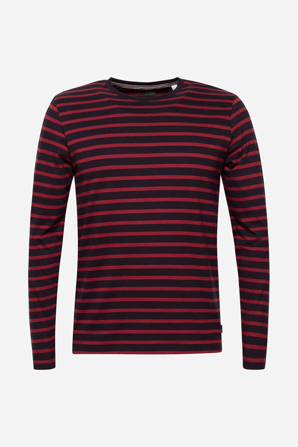 Jersey long sleeve top, 100% cotton, NAVY, detail image number 6