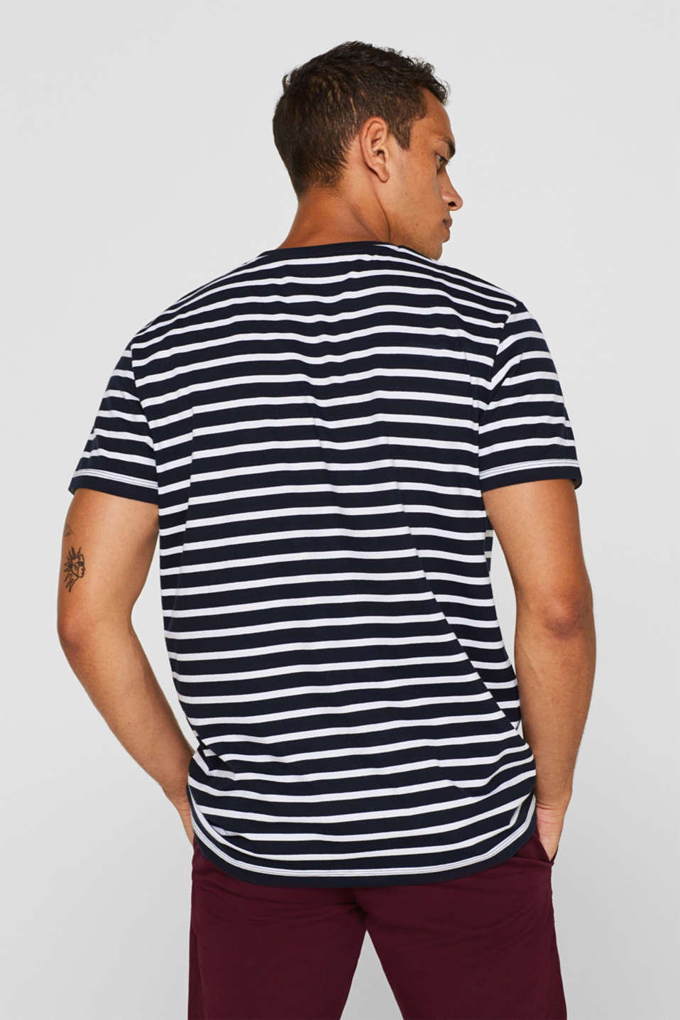 Jersey T-shirt with stripes, 100% cotton, NAVY 2, detail image number 3