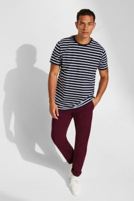 Jersey T-shirt with stripes, 100% cotton, NAVY 2, detail