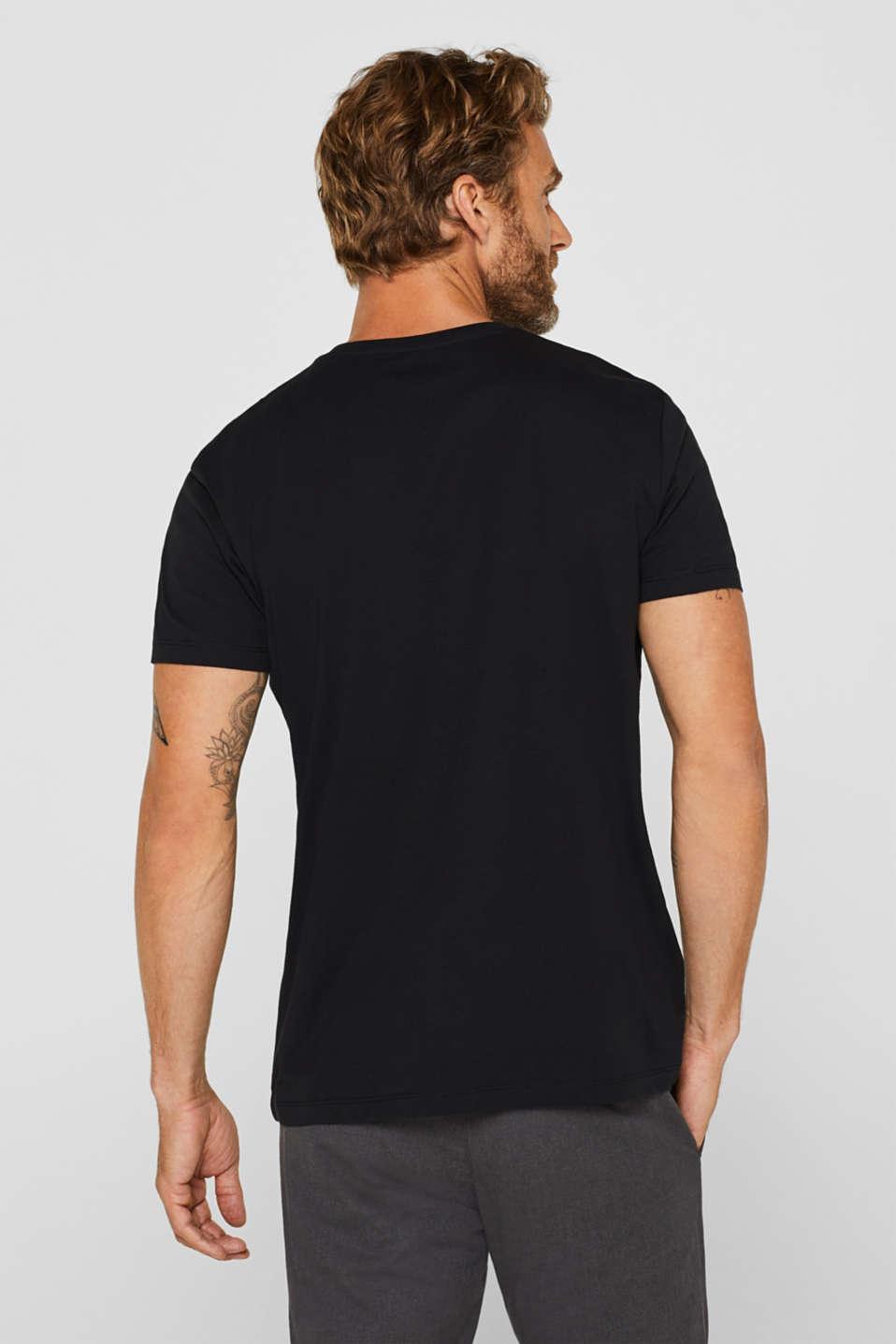 Jersey logo T-shirt, 100% cotton, BLACK, detail image number 3