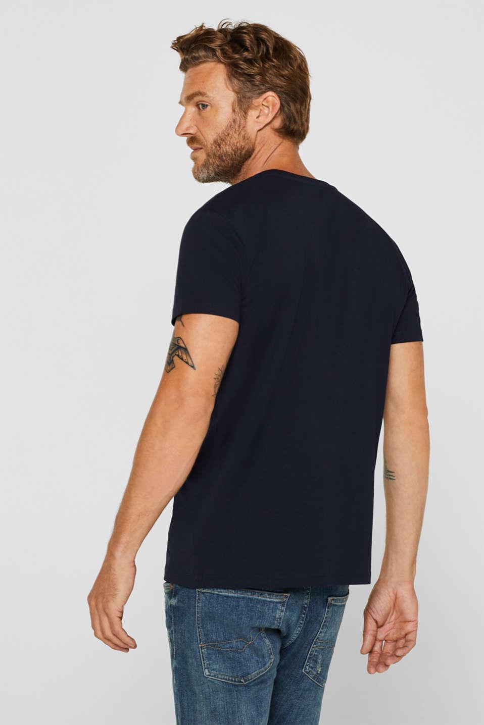 Jersey logo T-shirt, 100% cotton, NAVY, detail image number 3