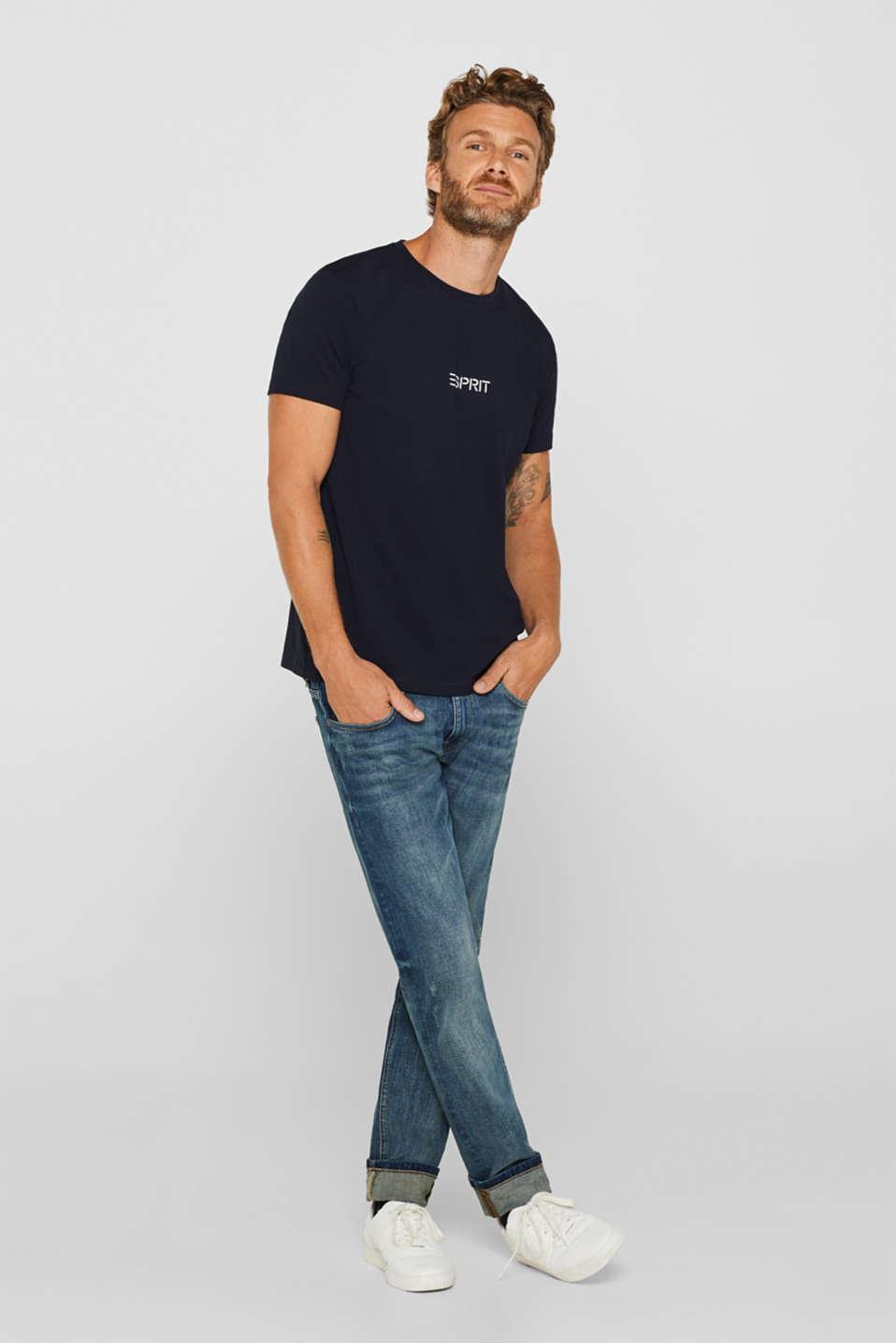 Jersey logo T-shirt, 100% cotton, NAVY, detail image number 4