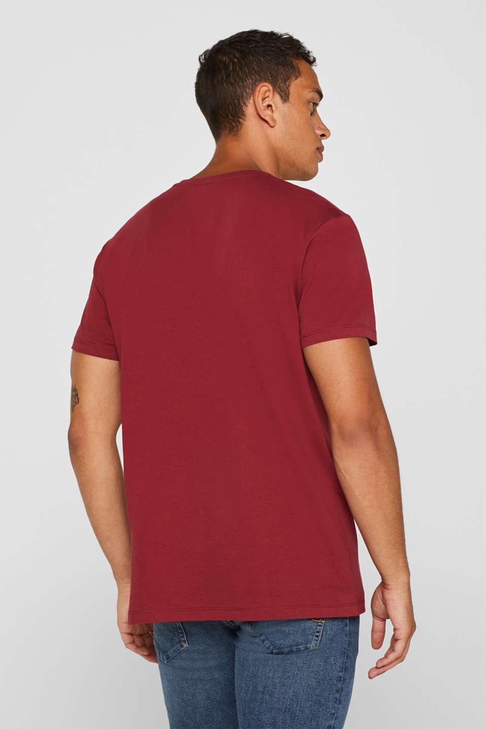 Jersey logo T-shirt, 100% cotton, BORDEAUX RED, detail image number 3