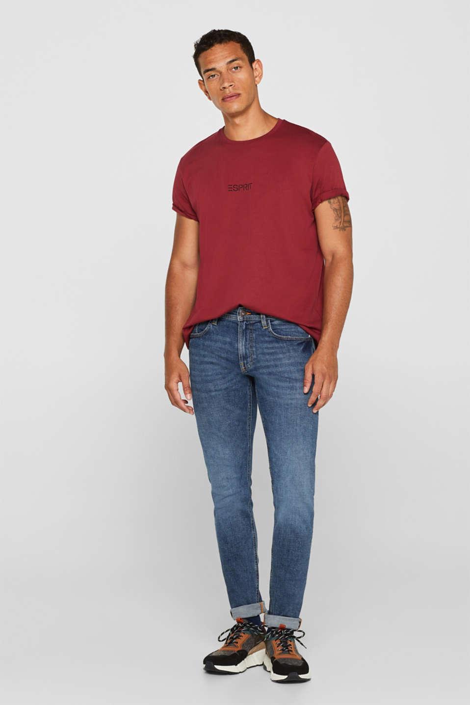 Jersey logo T-shirt, 100% cotton, BORDEAUX RED, detail image number 4