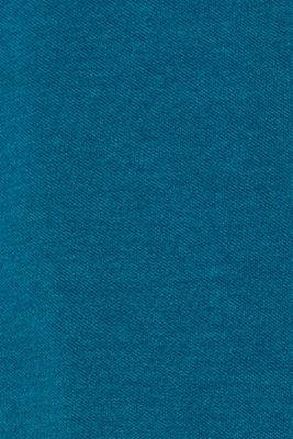 Piqué polo shirt in blended cotton, TEAL BLUE, detail