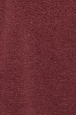 Piqué polo shirt in blended cotton, BORDEAUX RED, detail