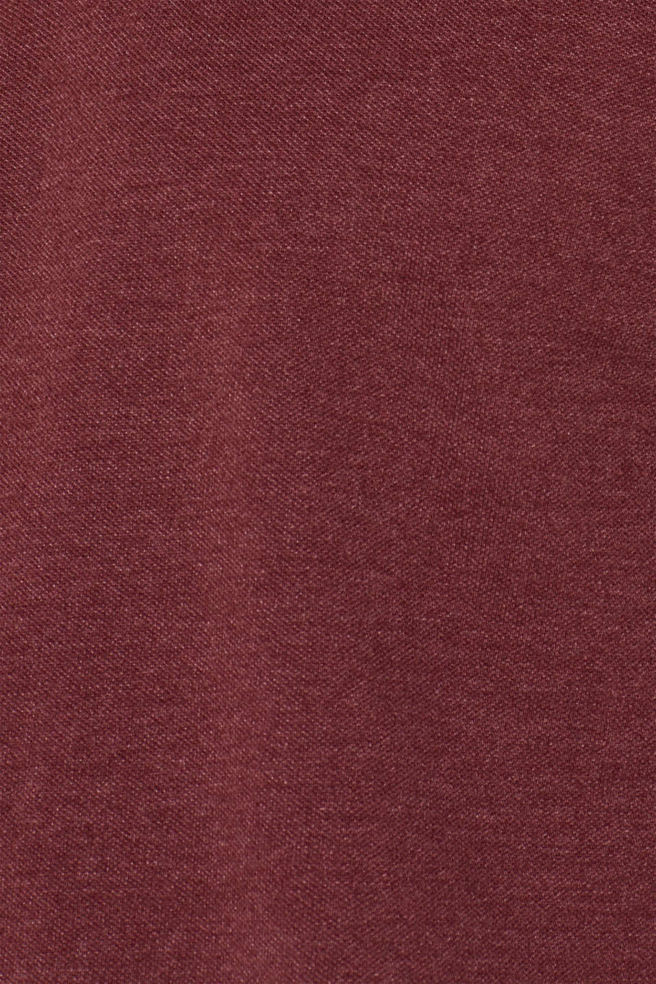Piqué polo shirt in blended cotton, BORDEAUX RED, detail image number 4
