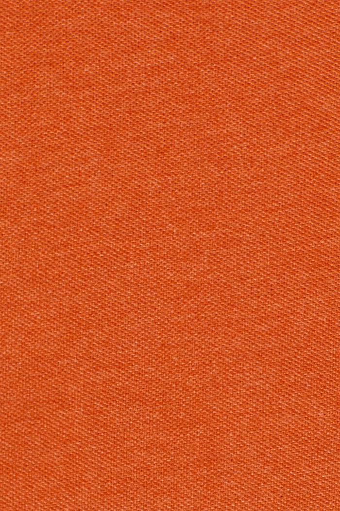 Piqué polo shirt in blended cotton, BURNT ORANGE, detail image number 4