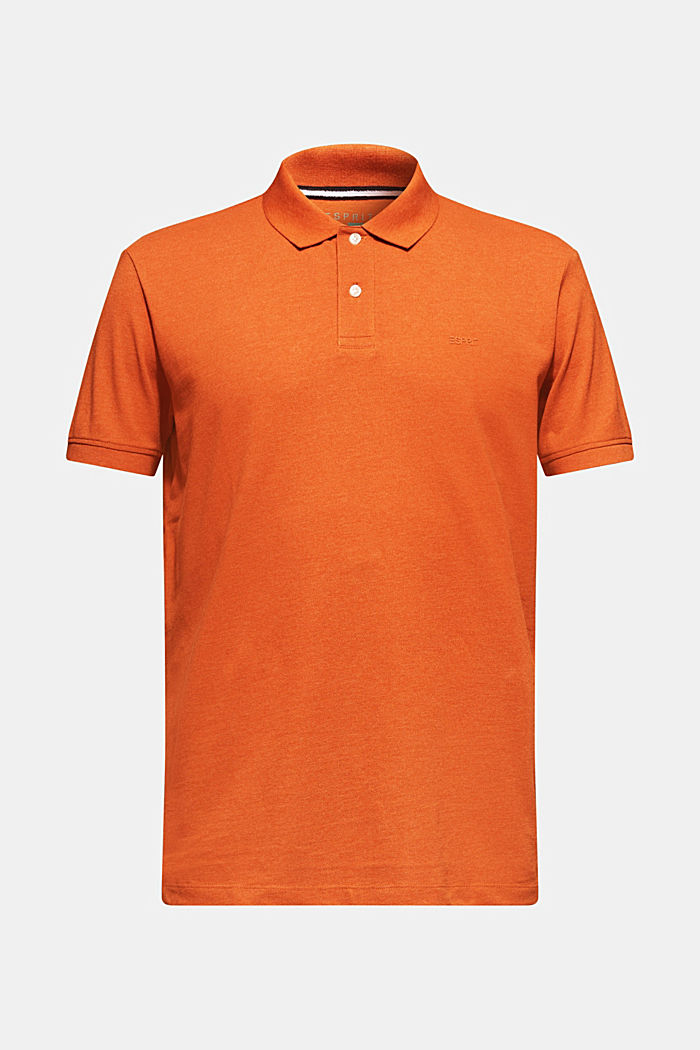Piqué polo shirt in blended cotton, BURNT ORANGE, detail image number 5