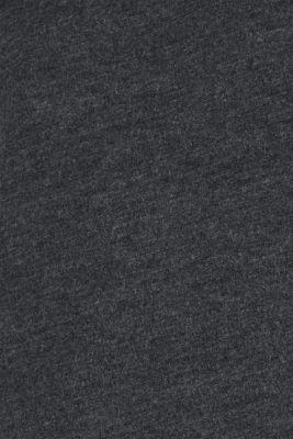 Jersey T-shirt in blended cotton, DARK GREY, detail
