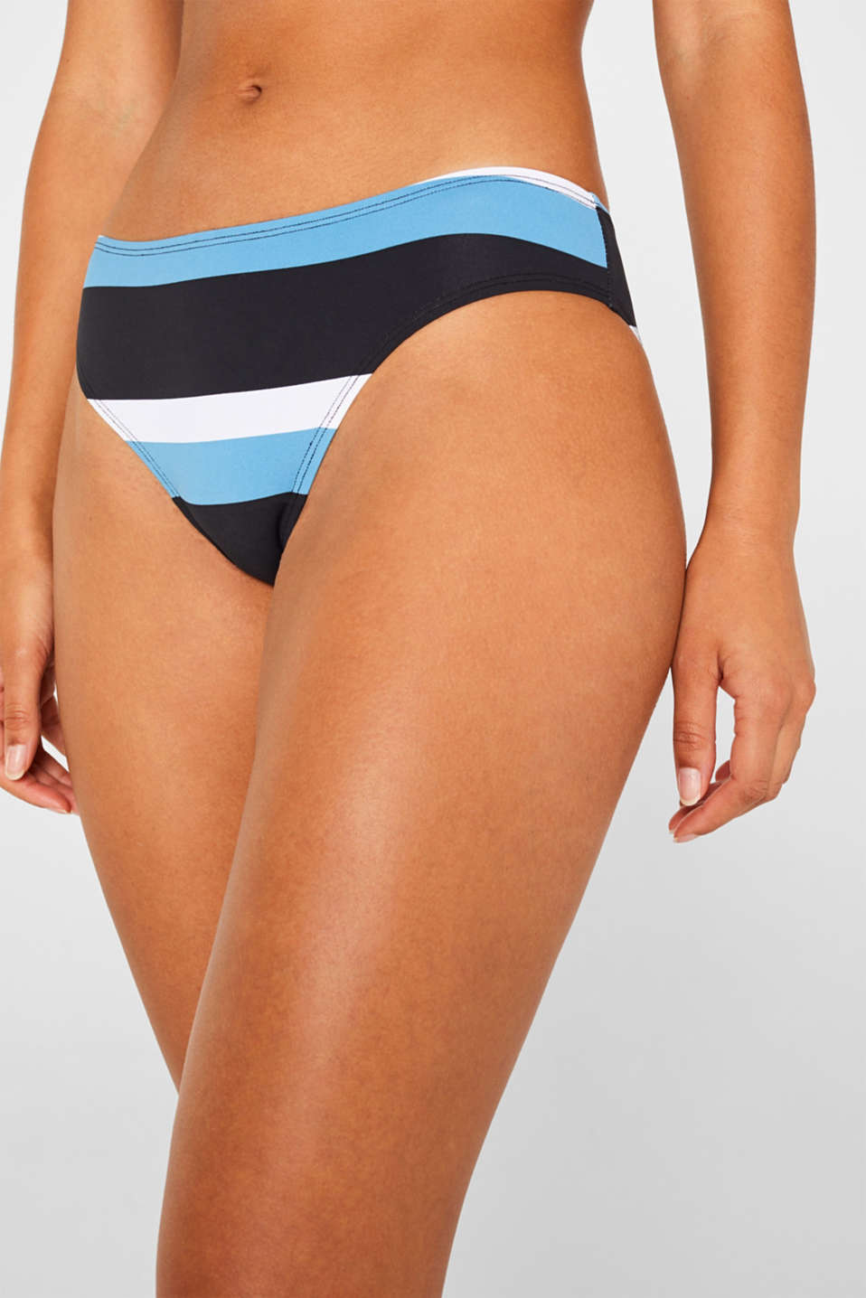 Briefs with a striped print, BLACK, detail image number 1