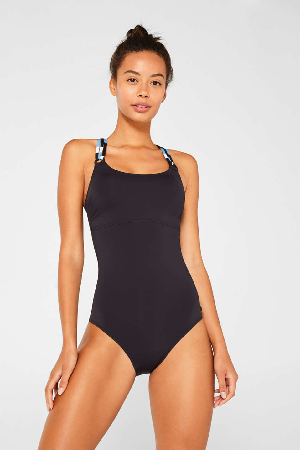 Esprit - Swimsuit with striped straps