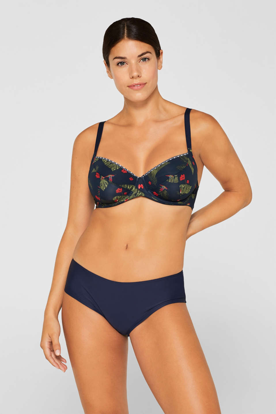 Esprit - Unpadded underwire bra with a print, for larger cup sizes