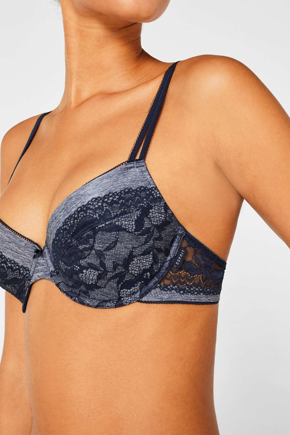 Bras with wire, NAVY, detail image number 2