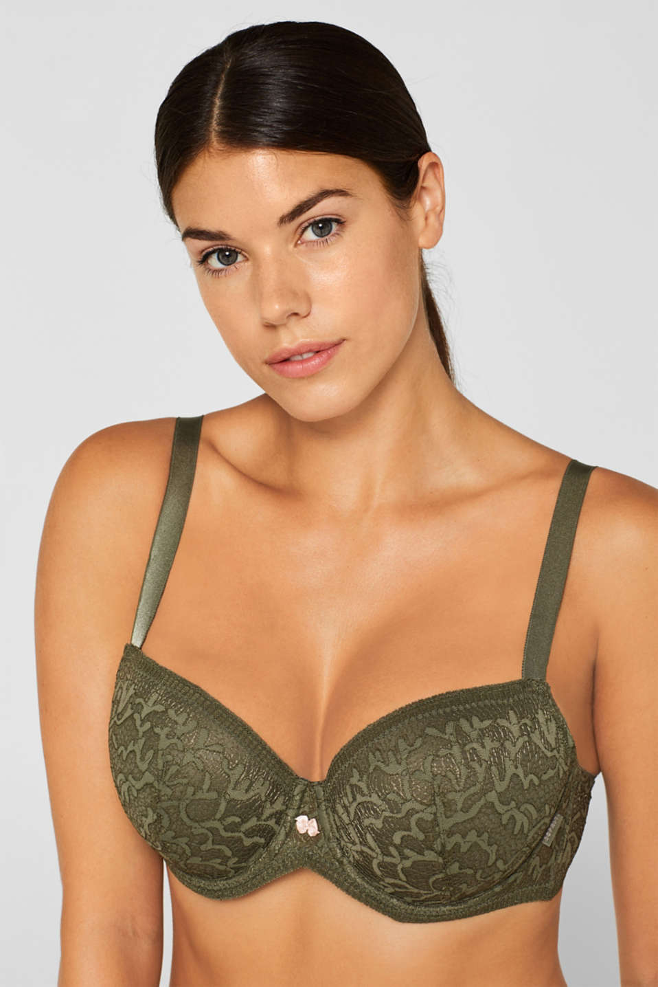 Bras with wire, OLIVE, detail image number 2