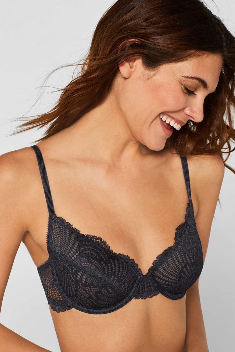 Bras with wire, ANTHRACITE, detail image number 2