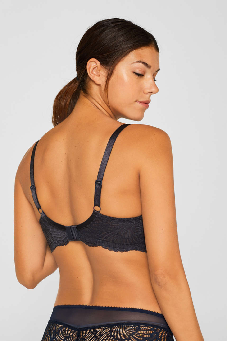 Unpadded underwire bra for larger cup sizes, ANTHRACITE, detail image number 1