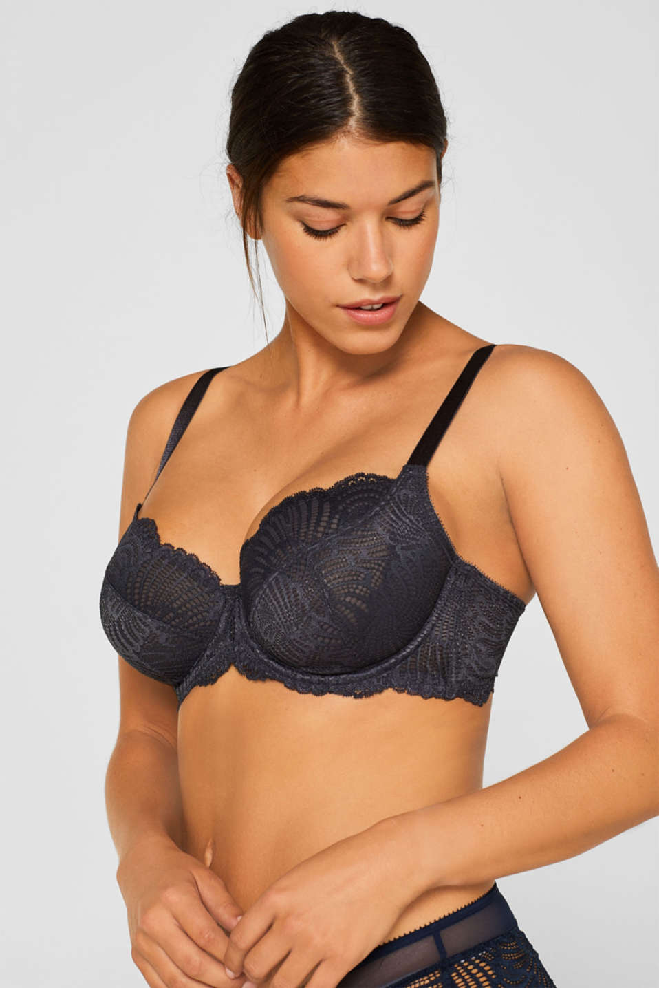 Unpadded underwire bra for larger cup sizes, ANTHRACITE, detail image number 2