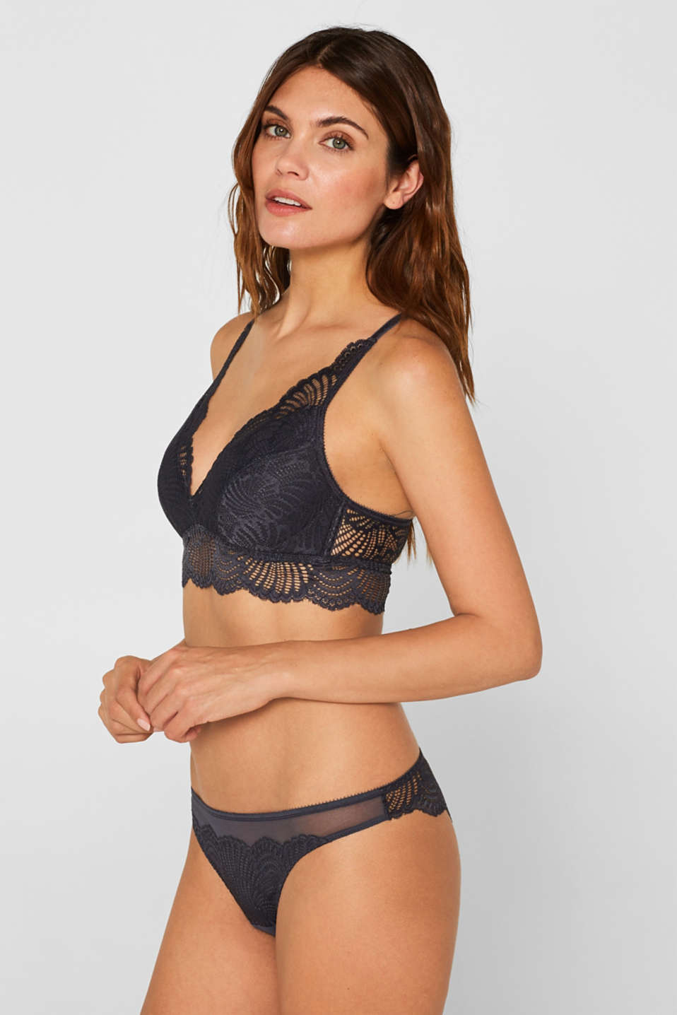 Esprit - Padded, non-wired bra in elaborate lace