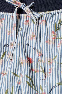 Pyjama shorts with a stripe print, 100% cotton