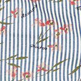 Pyjama shorts with a stripe print, 100% cotton, NAVY, swatch