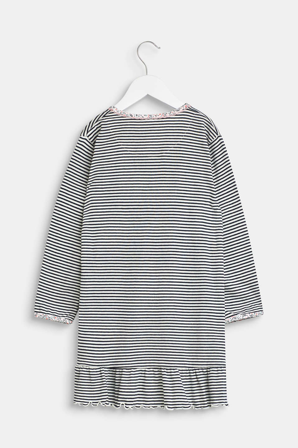 Jersey nightshirt with a print, 100% cotton, OFF WHITE, detail image number 1
