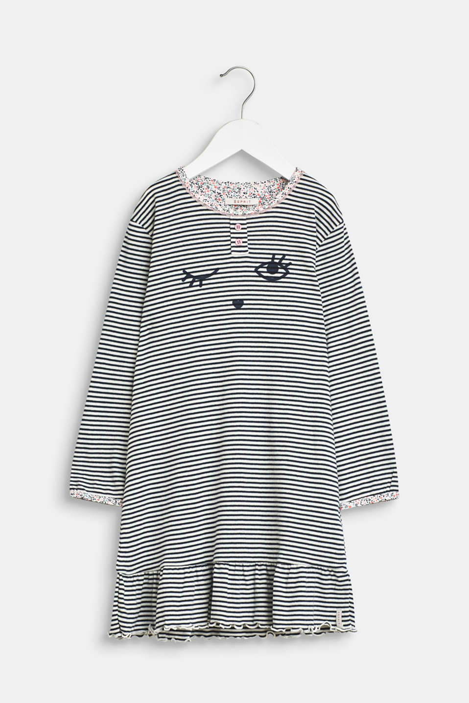 Jersey nightshirt with a print, 100% cotton, OFF WHITE, detail image number 0