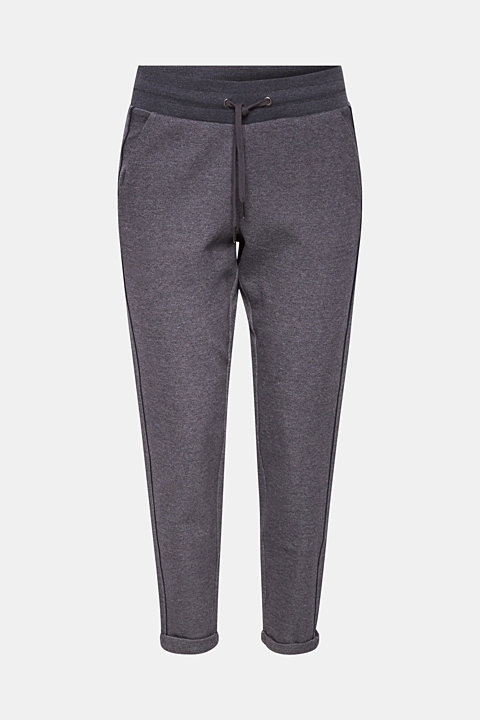 Melange tracksuit bottoms with piping