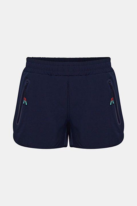 Active shorts with zip pockets, E-DRY
