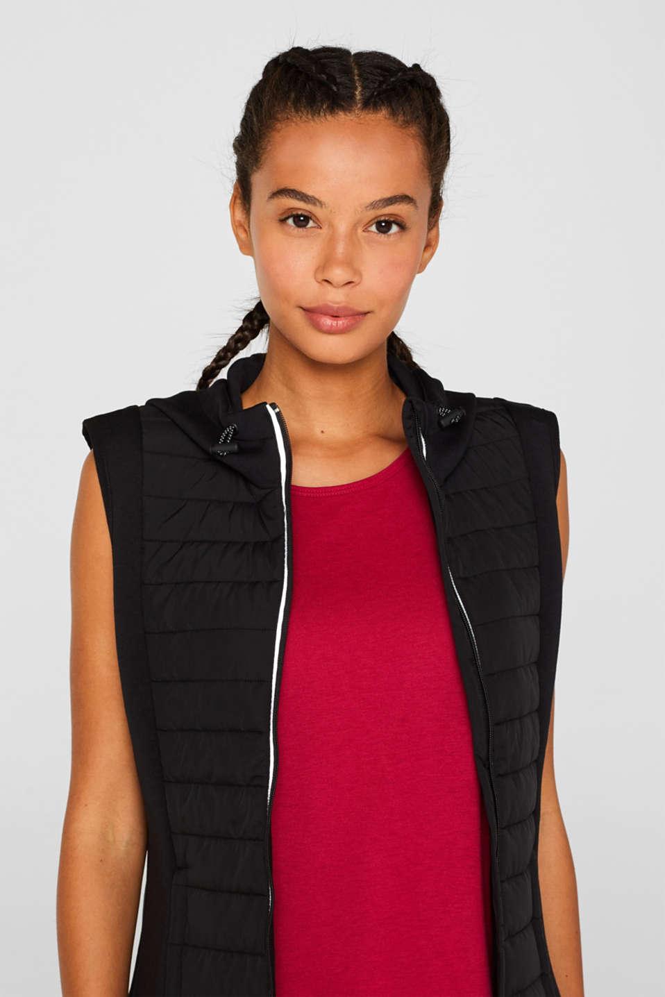 Vests outdoor woven, BLACK, detail image number 6