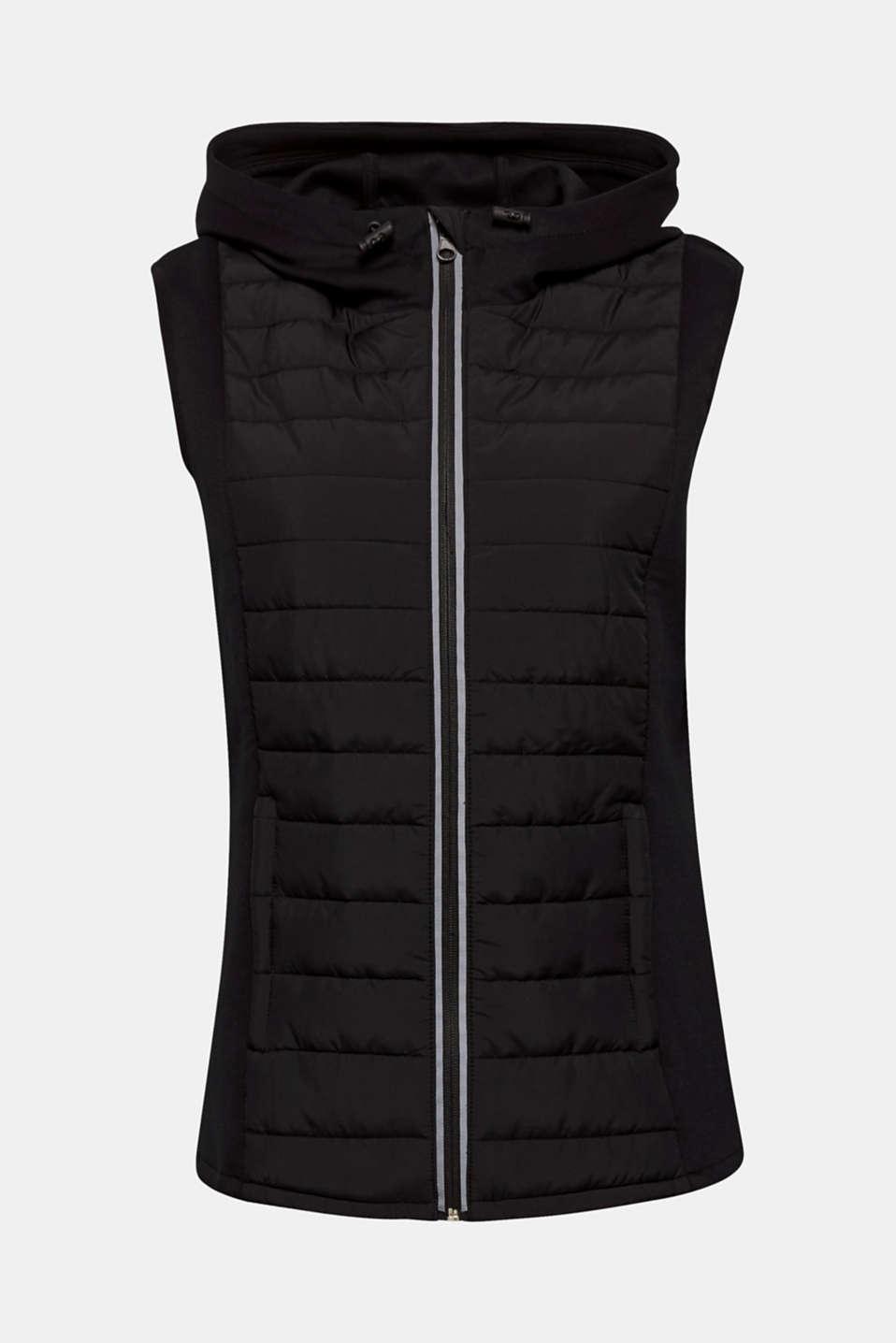 Vests outdoor woven, BLACK, detail image number 7