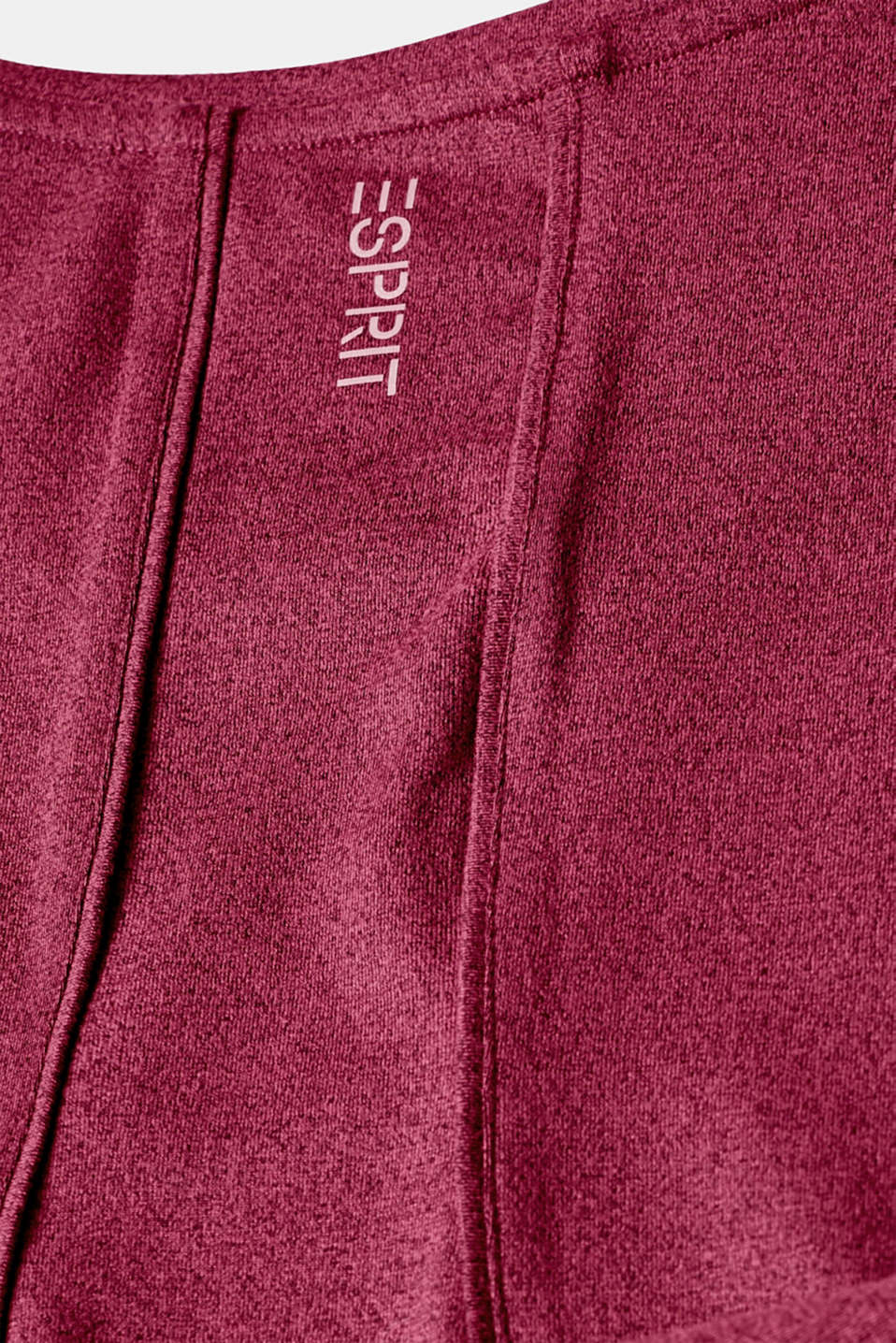Melange active T-shirt, E-DRY, DARK PINK 2, detail image number 4