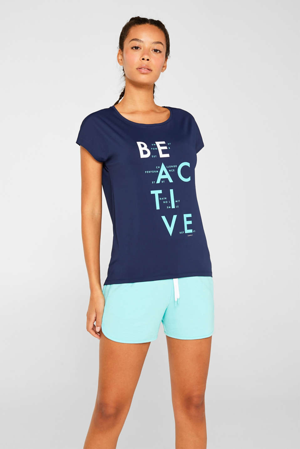 Esprit - Active shirt met statement print, E-DRY