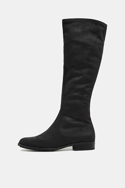 Stretch boot in faux suede made of textile
