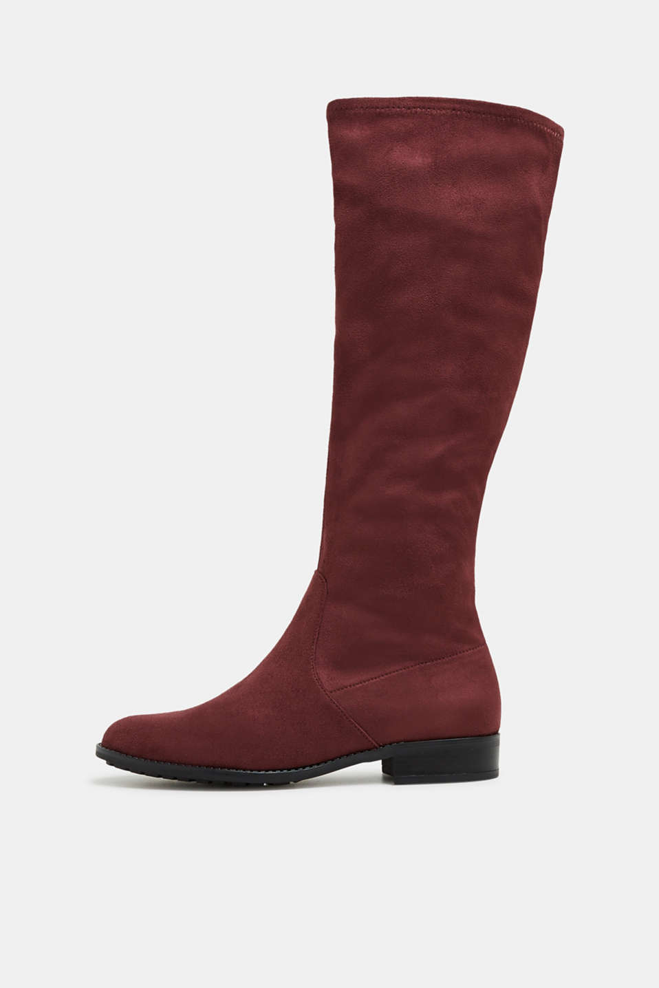 Esprit - Stretch boot in faux suede made of textile