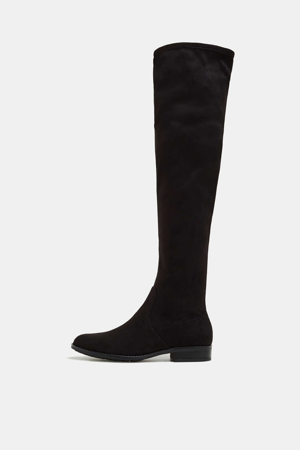 Esprit - Overknee-Stiefel in Velours-Optik