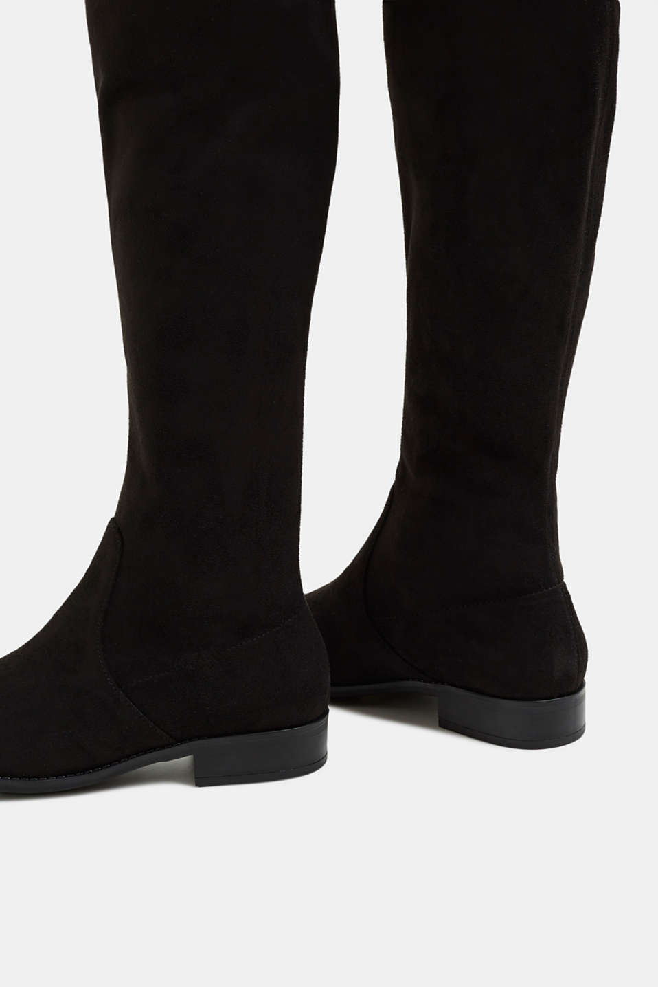 Over-the-knee boots in faux suede, BLACK, detail image number 5