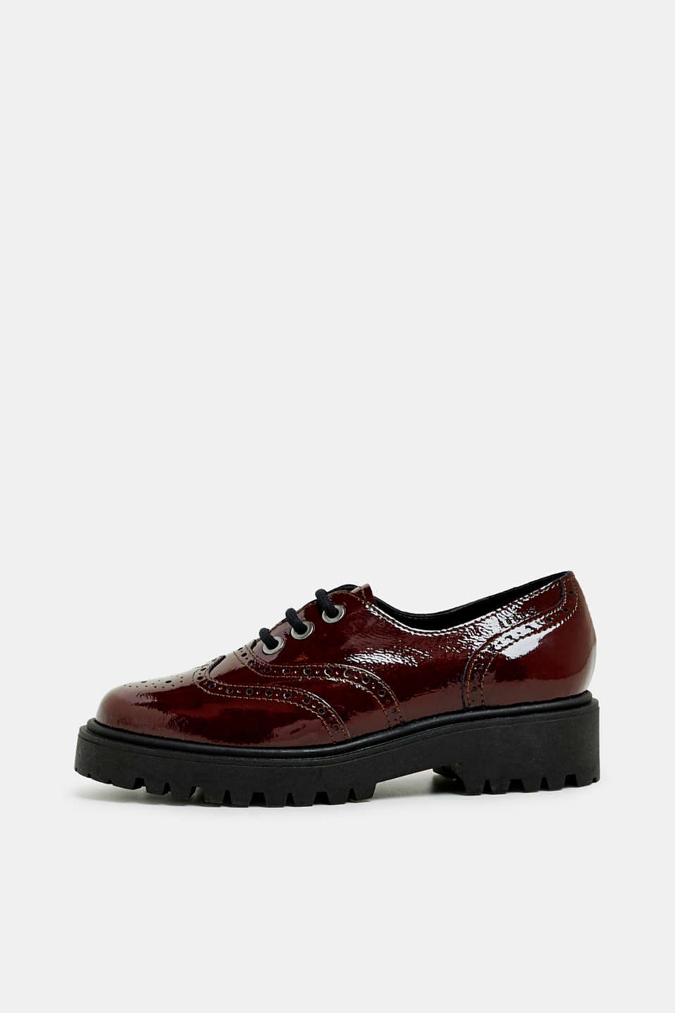 Esprit - Creepers mit Budapester-Muster, in Lack-Optik