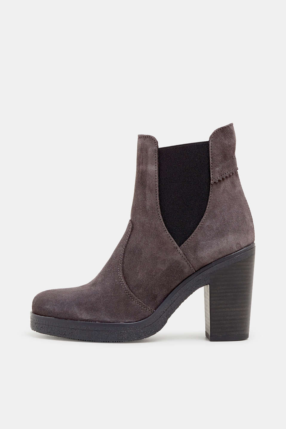 Esprit - Suede boots with a block heel
