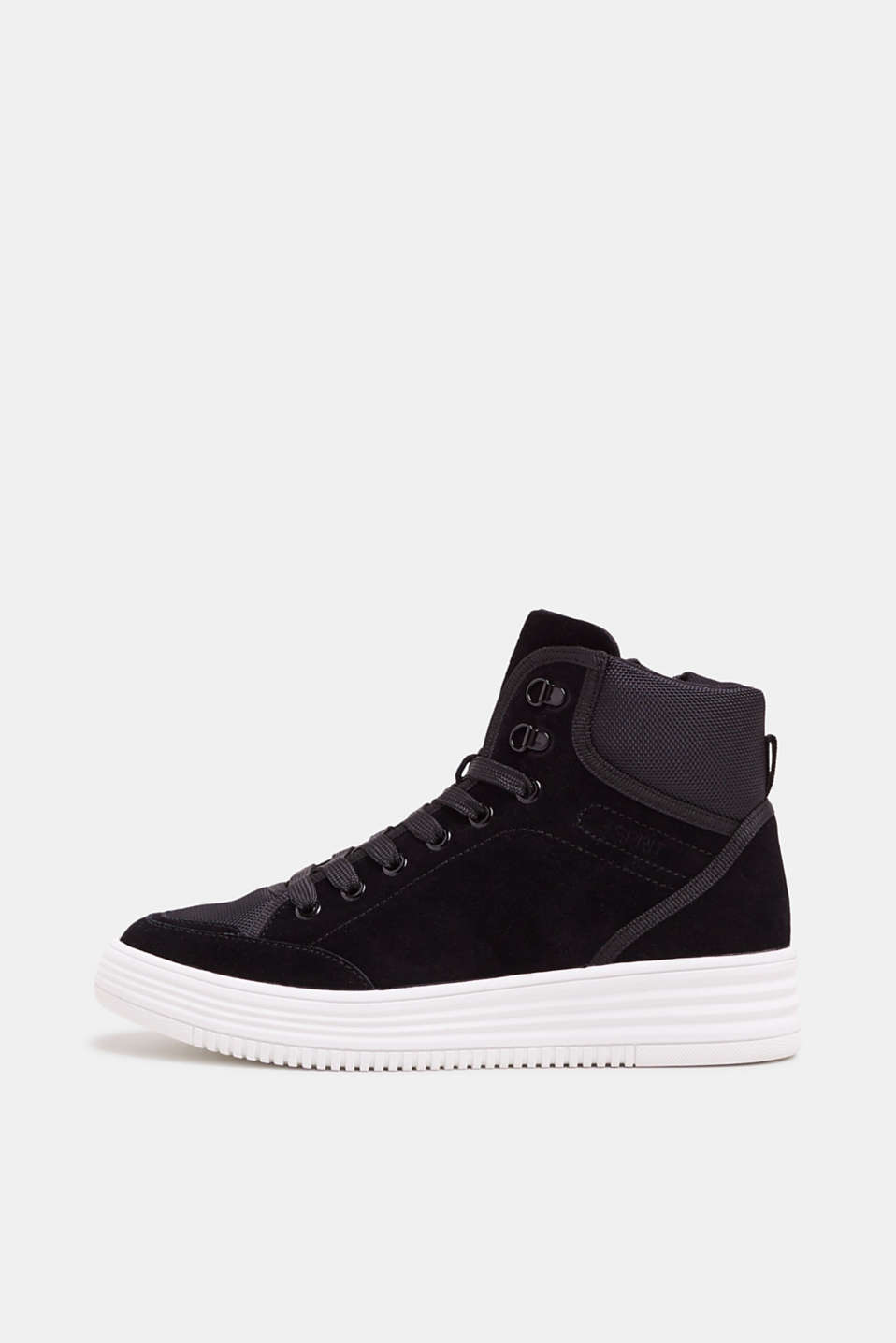 Esprit - High-top trainers with leather